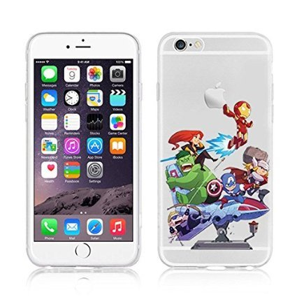 New Marvels Avenger Transparent Clear TPU Soft Case For Apple IPHONE 8 PLUS CATWOMEN MARVELS