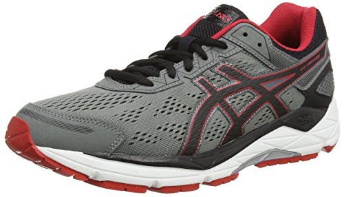 ASICS Gel-fortitude 7, Running homme - Gris (mix Grey/black/red 1590), 42 EU