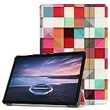 Fertuo Samsung Galaxy Tab S4 10.5 Hülle, Ultra Schlank Leder Tasche Schutzhülle Slim Ständer Case Cover für Samsung Tab S4 10.5 T830 / T835 2018 Tablet, mit Auto Schlaf & Aufweck Funktion (Magischer Würfel)