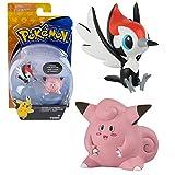 TOMY Selezione Battle Pack | Pokemon 2 Pezzi Set | Action Figures, Figure di Gioco:Pikipek vs. Clefairy