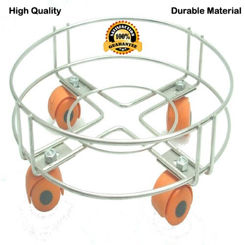 Saavre LPG Cylinder Stand | Gas Trolly | Cylinder Trolly  available at amazon for Rs.235