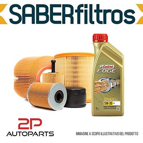 Kit tagliando auto, kit tre filtri e 4 litri olio motore Castrol Edge 5W30 (KF1100/fo_c)