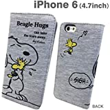 Peanuts Snoopy Soft Snoopy Diary Type Flip Case for iPhone 6 (Hugs)