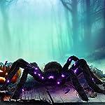 Prextex aufleuchtende Schwarze haarige Spinne/Tarantel für Ihr verwunschenes Halloween-Dekor - die Beste Dekoration für…