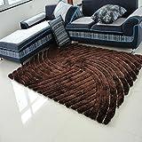 FIOFE/140 * 200cm ispessimento modello tappeto allungamento stereoscopico 3D (Colore : Marrone)