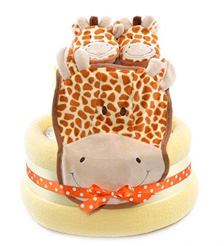 Jirafa Safari tema Unisex Bebé Ducha amarillo–tarta