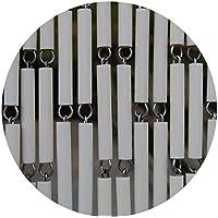 Rideau de porte en polyéthylène beige et acier Campo
