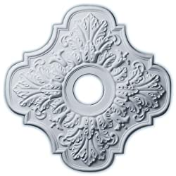 Peralta 17.75 H x 17 3/4 W x 1 D Ceiling Medallion