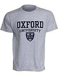 Oxford University- Camiseta de manga corta para Hombre (Mediana (M) 97-102cm/Gris Sport)