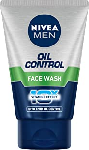 NIVEA MEN Face Wash, Oil Control, 10x Vitamin C, 100ml
