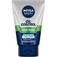NIVEA Men Face Wash for Oily Skin, Oil Control for 12hr Oil Control with 10x Vitamin C Effect, 50 g