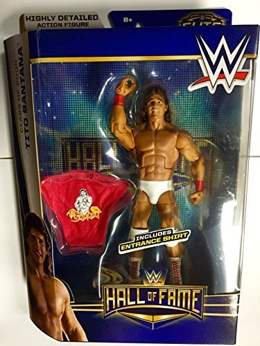 WWE Elite Hall Of Fame TITO SANTANA Class Of 2004 by Mattel by Mattel (Fame Of Mattel Wwe Hall)