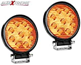 #3: AllExtreme 4 Inch 27W Round LED Work Light Spot Light Off Road Driving Light Fog Light Waterproof for Bike Truck Car ATV SUV Jeep Boat 4WD ATV 12V (Pack of 2)Yellow