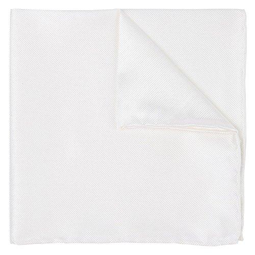 Hochzeitskollektion Einstecktuch Weiß 100% Twill Seide, 30 cm X 30 cm + Geschenkbox Einstecktücher