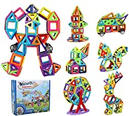 181 قطعة من مكعبات البناء المغناطيسية من انو تيك، مجموعة قوس قزح ثلاثية الابعاد | هدية تعليمية مبتكرة للاولاد