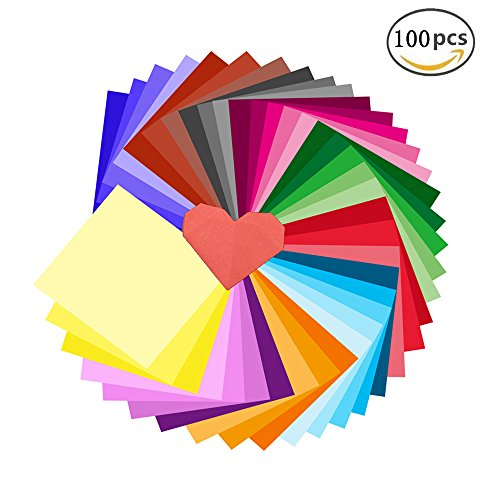 Erlliyeu Buntpapier Farbigen A4 Kopierpapier Papier mehr Spaß am Basteln Gestalten Dekorieren Zuschnitt-Papier 100 Blätter 10 Verschiedene Farben für DIY Kunst Handwerk (20*30cm)