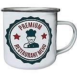 Nueva Comida Premium Del Restaurante Retro, lata, taza del esmalte 10oz/280ml m309e