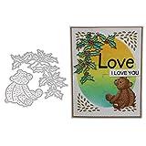 Lazzboy Fustelle Natale Scrapbooking Metallo Stencil Paper Card Craft per Sizzix Big Shot/Altre Macchine(C, Orso)