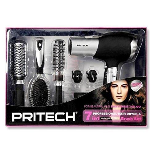 pritech-hairstyling-set-mit-haartrockner-2000-w-6-zubehorteile