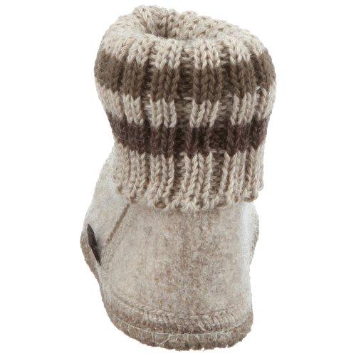 Haflinger - Hüttenschuh Paul, Pantofole A Casa infantile Beige (Beige/papiermeliert öko)