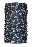 Colour negro HeadLOOP Multifunktionstuch niños del cráneo del pirata loop bufanda del tubo de la bufanda pañuelo de microfibra