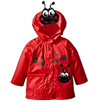 ALLLHMKS Seven-Star Ladybird Hooded Jacket Raincoat Red Windproof Raincoat Raincoat Green Durable Raincoat (color : Red, Size : S)
