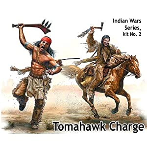 Master Box mb35192 Figuras Tomahawk Charge Indian Wars Series, Kit No. 2, Juego