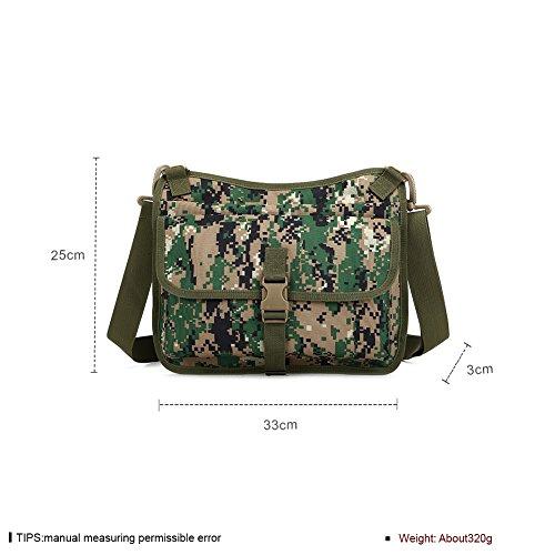 Faysting EU borsa a tracolla spalla borsa esercito verde vari colori scegliere buon regalo per uomo studenti A