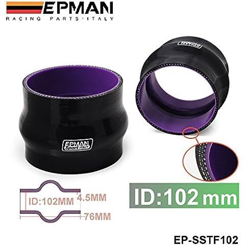 """sypure (TM) autofab–epman 4""""102mm Silicone Hump Hose–Connettore A soffietto in silicone gomma accoppiatore tubo dritto tubo ep-sstf102"""