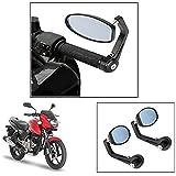 #8: Vheelocity Motorycle Bar End Mirror Rear View Mirror OvalFor Bajaj Pulsar 150