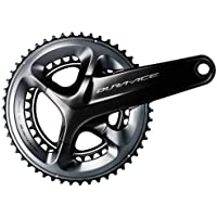 Shimano D/Ace R9100, Guarnitura, Nero, 53/39 Denti