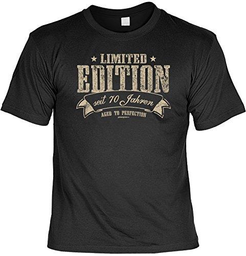 T-Shirt mit Geburtstagsmotiv - Limited Edition seit 70 Jahren - Cooles Geschenk zum 70. Geburtstag - schwarz Schwarz