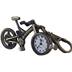 Vintage Retro Bicycle Keychain Bike Shape Pendant Pockets Watches Key Rings Chain for Men Women