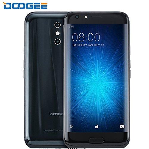 Smartphone ohne Vertrag, DOOGEE BL5000 4G Dual SIM Android 7.0 Günstig Handy, 5.5 Zoll FHD MT6750T Processor Smartphones, 4GB RAM + 64GB ROM 5050 mAh Große Akku, 13.0MP Dual Rear Kamera +8.0MP Front Kamera, FingerabdruckSensor, Bluetooth - Schwarz