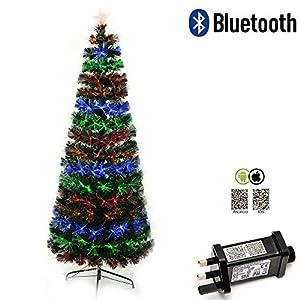 Shatchi 6055-FIBRE-OPTIC-BLUETOOTH-TREE-2FT Smart App Bluetooth