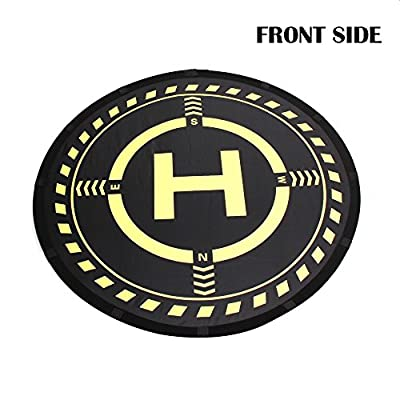 Anbee RC Drone Landing Pad with Night Flight Lights, Universal 70cm Foldable Parking Apron for RC Quadcopter, Fits DJI Phantom 3/4, Mavic Pro/Platinum/Air/Spark, Bebop 2 and other FPV Racing Drones