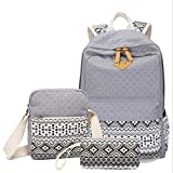 Zaino per Bambini Tela Boho Style 3 Pezzi Teens Girls Backpack Set 3 in 1 Borsa per Notebook Studenti Borsa a Tracolla Zaino Casual School Bookbag SchoolBags per Viaggio Uso Quotidiano Cartella