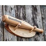 Spaß kostet Schwerer Deko Baseballschläger 40 cm mit Wandhalterung