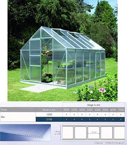 Polycarbonat Hohlkammerplatten 8 mm - Breite 700 mm für Gewächshäuser