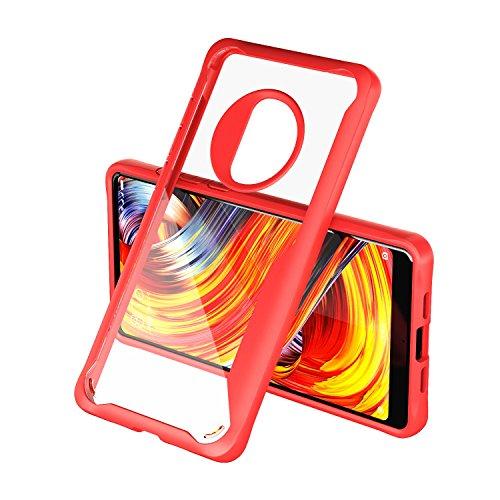 OPPO R11tective Cases Fermezza e Flessibilità Back Cover Style Smartphone Custodie per Xiaomi Mi MIX 2(Rosso)