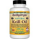 Healthy Origins, Krill Oil, Natural Vanilla Flavor, 1,000 mg, 60 Softgels