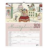 Multiplaner 2020, XXL, übersichtlicher Monatsplaner mit 14 Monatsseiten und jeweils 7 Spalten, jahresübergreifend, Spiralbindung, zum Aufhängen, Familie, Großfamilie oder WG