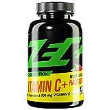 ZEC+ Vitamin C hochdosiert - 240 Vitamin C Kapseln je 500 mg Vitamin C Ascorbinsäure und 25 mg Hagebutten-Extrakt, gegen oxidativen Stress, normale Funktion des Energiestoffwechsel und Immunsystem