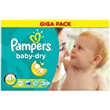 Couches Pampers Baby Dry Groupe 4 + Maxi Plus 9-20 kg Gigapack 111 pièce