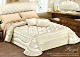 Winter-Steppdecke mit Muster Royal Matrimoniale beige