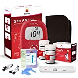 Sinocare Diabetes Testing Kit/Blood Glucose Monitor Safe AQ Smart/Blood Glucose Sugar Test Kit with Codefree Strips x 50 & Painfree Lancets x 50 & Case for UK Diabetics -in mmol/L