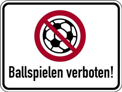 Schild Alu Ballspielen verboten Symbol 300x400mm