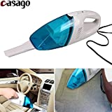 #5: Casago Portable Handheld Car Vacuum Cleaner Lightweight Auto Hand Vac Dust buster with Detachable Crevice Tool 12V Multipurpose High Power Suction Vacuum Cleaner for Car Seats Office Home and Pet Hair