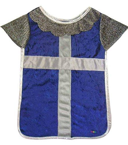 Trullala Ritterhemd, Ritterkostüm, Faschingskostüm, Größe: M in blau-silber (4-6 Jahre)