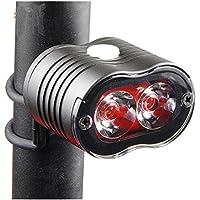 LU2000 bicicleta advertencia Luz de fondo, USB Batería Super brillante bicicleta luz trasera, potente
